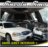 Stretched Lincoln Town Car With Dark Interior Design