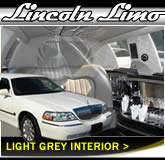 Stretched Lincoln Town Car With Light Interior Design